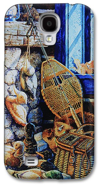 Cabin Window Galaxy S4 Cases - Warm Winter Wishes Galaxy S4 Case by Hanne Lore Koehler