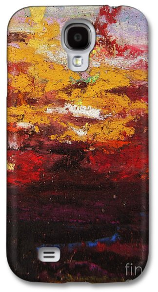 Orange Pastels Galaxy S4 Cases - Warmth Galaxy S4 Case by John Clark