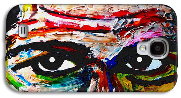 The Tiger Paintings Galaxy S4 Cases - Warpaint Galaxy S4 Case by David Rogers
