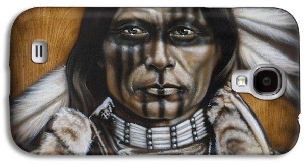Native Americans Galaxy S4 Cases - Warpaint Galaxy S4 Case by Tim  Scoggins