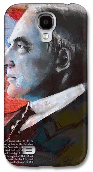 James Buchanan Galaxy S4 Cases - Warren G. Harding Galaxy S4 Case by Corporate Art Task Force