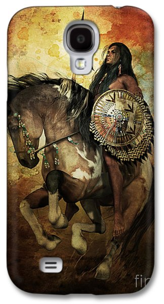 Horse Digital Galaxy S4 Cases - Warrior Galaxy S4 Case by Shanina Conway