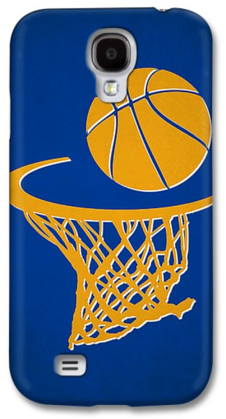 Dunk Galaxy S4 Cases - Warriors Team Hoop2 Galaxy S4 Case by Joe Hamilton