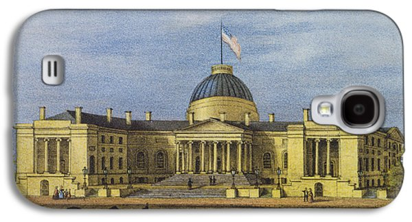 Street Drawings Galaxy S4 Cases - Washington City Hall Circa 1866 Galaxy S4 Case by Aged Pixel