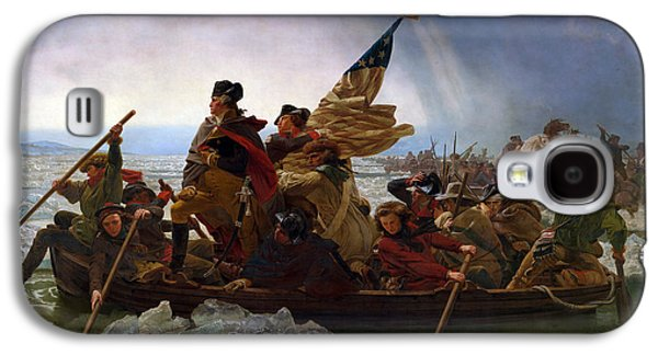 Patriotism Paintings Galaxy S4 Cases - Washington Crossing the Deleware Galaxy S4 Case by Emanuel Leutze