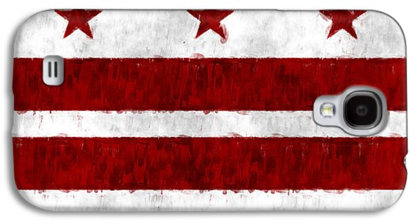 Flag Of Usa Galaxy S4 Cases - Washington D.C. Flag Galaxy S4 Case by World Art Prints And Designs
