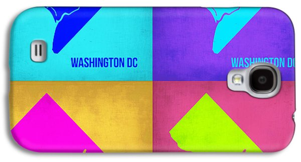 Decoration Galaxy S4 Cases - Washington DC Pop Art Map 1 Galaxy S4 Case by Naxart Studio