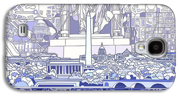 Washington Dc Skyline Abstract 3 Galaxy S4 Case by Bekim Art