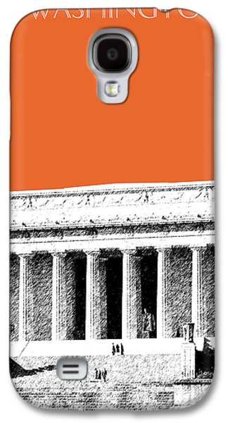 Washington Dc Skyline Lincoln Memorial - Coral Galaxy S4 Case by DB Artist