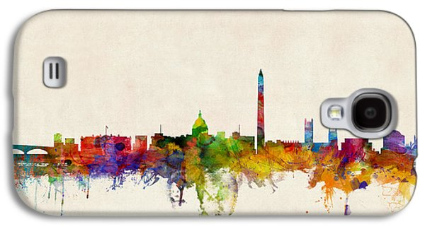 Cityscape Digital Galaxy S4 Cases - Washington DC Skyline Galaxy S4 Case by Michael Tompsett