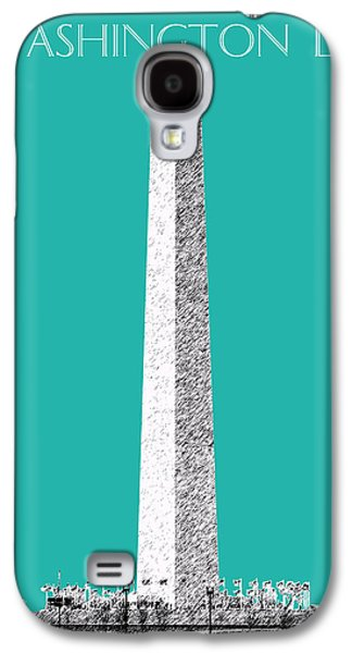 Washington Dc Skyline Washington Monument - Teal Galaxy S4 Case by DB Artist