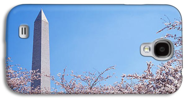Cherry Blossoms Galaxy S4 Cases - Washington Monument Behind Cherry Galaxy S4 Case by Panoramic Images