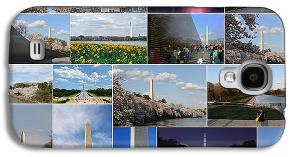4th July Galaxy S4 Cases - Washington Monument Collage 2 Galaxy S4 Case by Allen Beatty