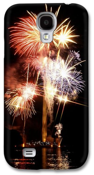 4th July Galaxy S4 Cases - Washington Monument Fireworks 2 Galaxy S4 Case by Stuart Litoff
