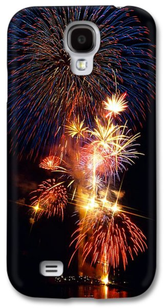 4th July Galaxy S4 Cases - Washington Monument Fireworks 3 Galaxy S4 Case by Stuart Litoff