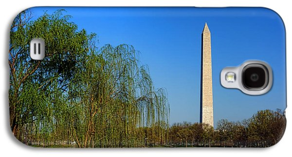 Constitution Galaxy S4 Cases - Washington Monument from Constitution Gardens Pond Galaxy S4 Case by Olivier Le Queinec