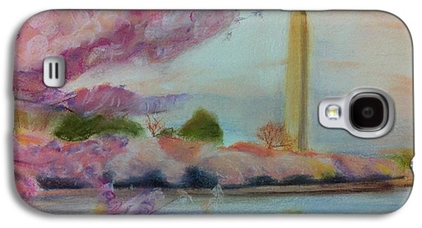 Cherry Blossoms Pastels Galaxy S4 Cases - Washington Monument Galaxy S4 Case by Tiffany Albright
