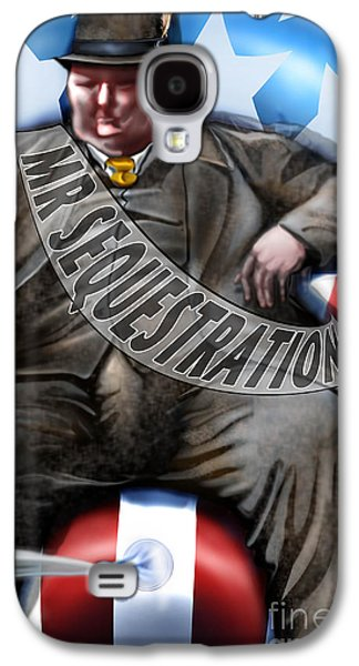 Democrat Paintings Galaxy S4 Cases - Washington Sitting Down On The Job Galaxy S4 Case by Reggie Duffie