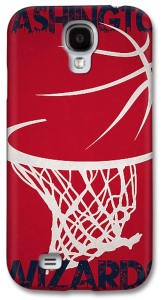 Wizard Photographs Galaxy S4 Cases - Washington Wizards Hoop Galaxy S4 Case by Joe Hamilton