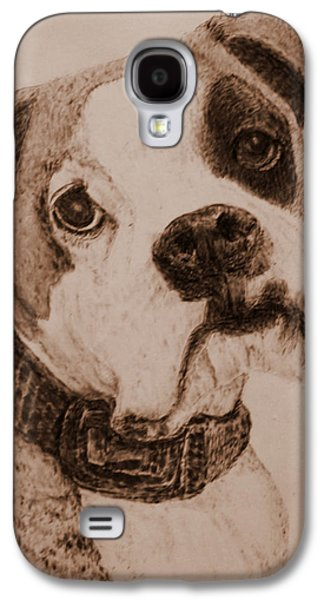 Boxer Pyrography Galaxy S4 Cases - Wasnt Me Galaxy S4 Case by Dale Bradley