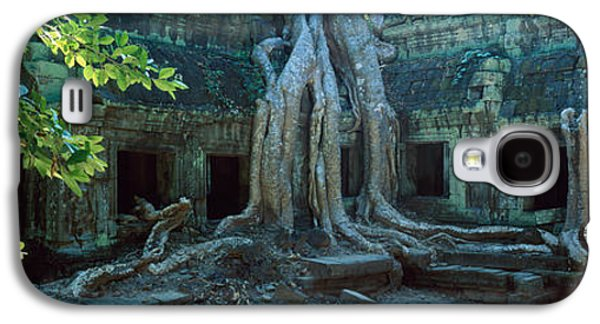 Tree Roots Photographs Galaxy S4 Cases - Wat Temple Complex Of Ta-prohm Cambodia Galaxy S4 Case by Panoramic Images