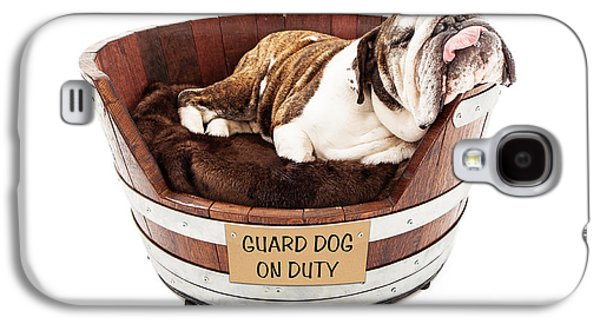 Guard Dog Galaxy S4 Cases - Watch Dog Sleeping on Job Galaxy S4 Case by Susan  Schmitz