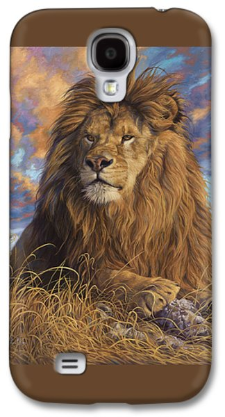 Male Paintings Galaxy S4 Cases - Watchful Eyes Galaxy S4 Case by Lucie Bilodeau