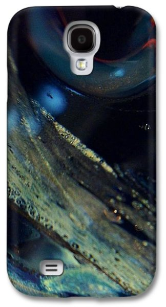 Modern Abstract Glass Art Galaxy S4 Cases - Watchful Galaxy S4 Case by Gaby Tench