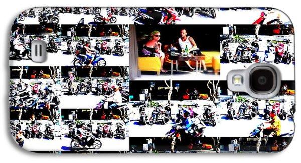 Watching Bikers In Bali Galaxy S4 Case by Funkpix Photo Hunter