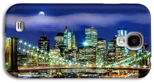 Skylines Galaxy S4 Cases - Watching Over New York Galaxy S4 Case by Az Jackson