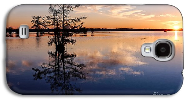Watching The Sunset At Ba Steinhagen Lake Martin Dies Jr. State Park - Jasper East Texas Galaxy S4 Case by Silvio Ligutti