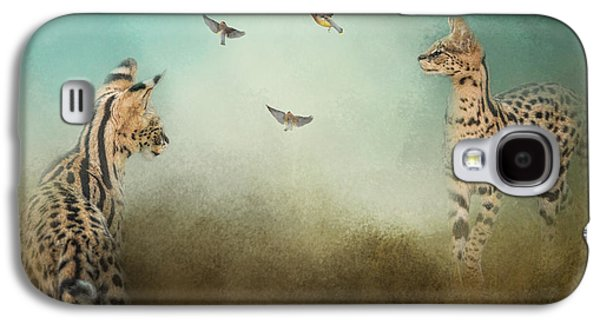 Original Art Photographs Galaxy S4 Cases - Watching the Waxwings Galaxy S4 Case by Jai Johnson
