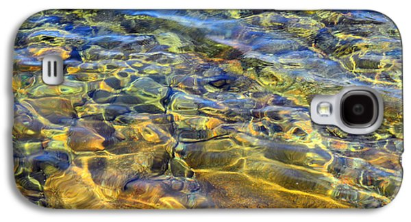 Nature Abstracts Galaxy S4 Cases - Water Abstract Galaxy S4 Case by Lynda Lehmann