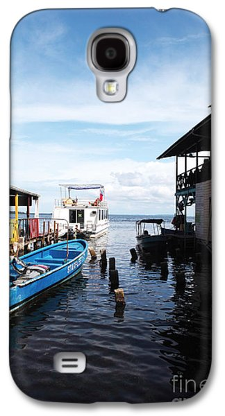 Boats In Water Galaxy S4 Cases - Water Alley in Bocas Town Galaxy S4 Case by John Rizzuto