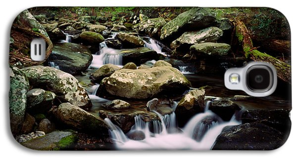 Contemplative Photographs Galaxy S4 Cases - Water Cascading Over Rocks, Leconte Galaxy S4 Case by Panoramic Images