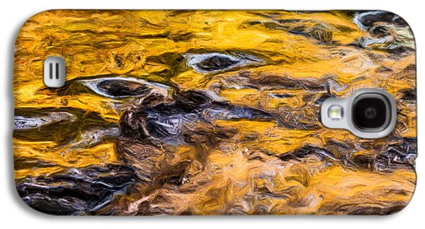 Abstract Digital Tapestries - Textiles Galaxy S4 Cases - Water Flow Abstract Galaxy S4 Case by Dennis Bucklin