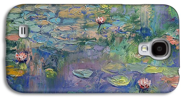 Claude Paintings Galaxy S4 Cases - Water Garden Galaxy S4 Case by Michael Creese