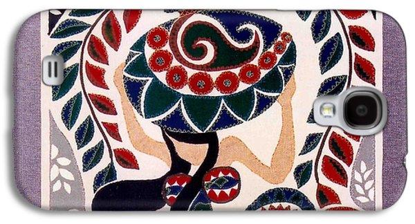 Girl Tapestries - Textiles Galaxy S4 Cases - Water Girl Galaxy S4 Case by Kumari Adikari