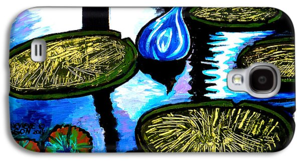 Balck Art Galaxy S4 Cases - Water Lilies and Chihuly Glass Baubles At Missouri Botanical Garden Galaxy S4 Case by Genevieve Esson