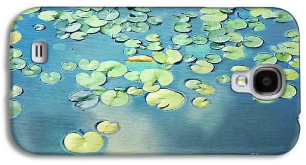 Reflecting Water Galaxy S4 Cases - Water Lilies Galaxy S4 Case by Darren Fisher