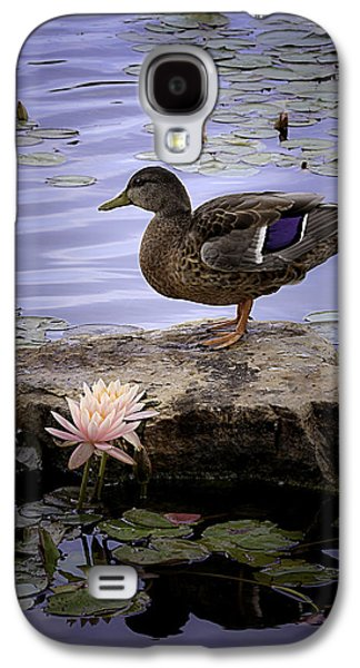 Young Birds Galaxy S4 Cases - Water Lilies Feathers and Beak Galaxy S4 Case by Julie Palencia