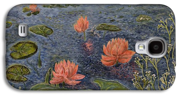 Waterscape Galaxy S4 Cases - Water Lilies lounge Galaxy S4 Case by Felicia Tica