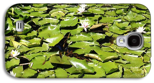 Aquatic Galaxy S4 Cases - Water lillies Galaxy S4 Case by Les Cunliffe