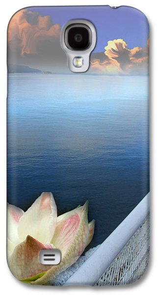 Contemplative Photographs Galaxy S4 Cases - Water Lily and Clouds Galaxy S4 Case by Lyn  Perry