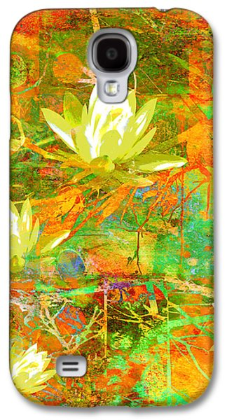 Recently Sold -  - Abstract Nature Galaxy S4 Cases - Water Lily Collage abstract flowers  nature art  Galaxy S4 Case by Ann Powell