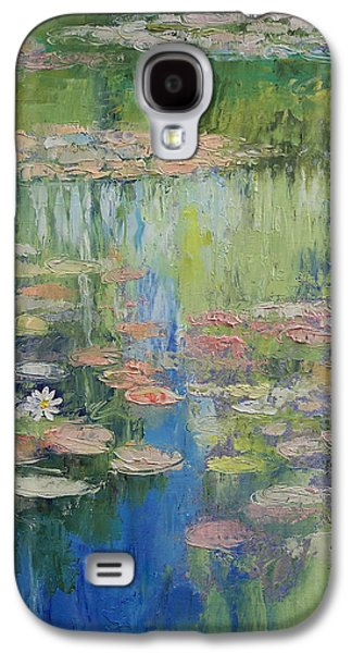 Claude Paintings Galaxy S4 Cases - Water Lily Pond Galaxy S4 Case by Michael Creese