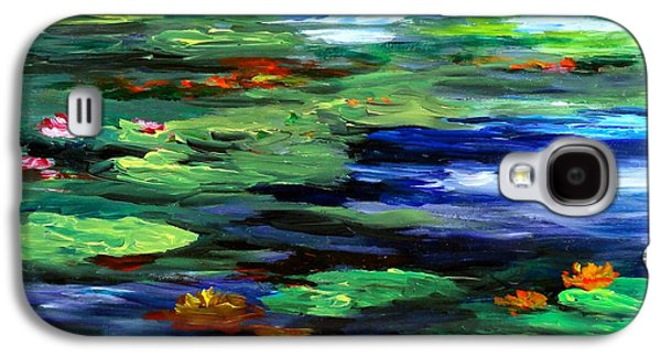 Claude Paintings Galaxy S4 Cases - Water Lily Somnolence Galaxy S4 Case by Patricia Brintle