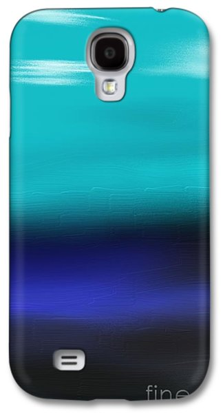 Abstract Beach Landscape Drawings Galaxy S4 Cases - Water meets Sky Galaxy S4 Case by Jerod Roberts