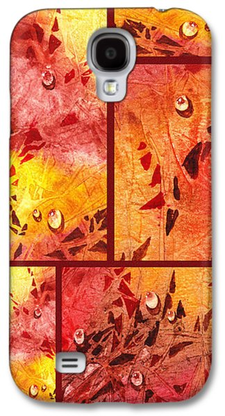 Abstract Movement Galaxy S4 Cases - Water On Color Collage Eight Galaxy S4 Case by Irina Sztukowski