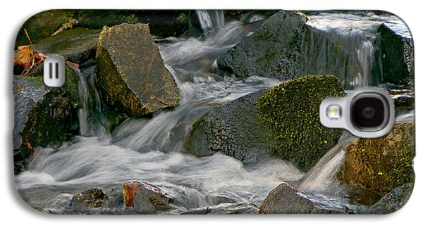 Autumn Leaf On Water Galaxy S4 Cases - Water Over Rocks Galaxy S4 Case by Sharon  Talson